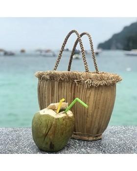 Tayland Yapımı İçi Hasır Çanta