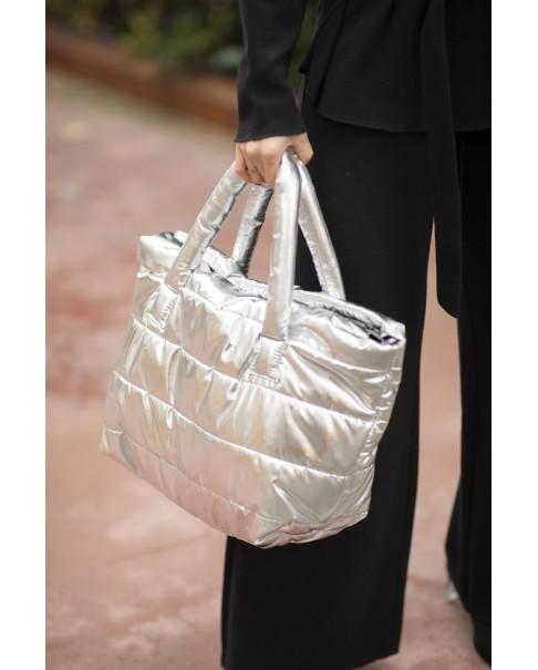 Pillow Bag Gümüş