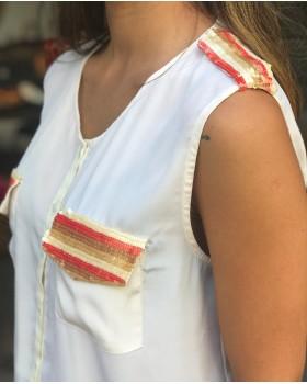 Kısa Kollu Payetli Gömlek