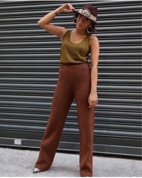 Kahverengi Triko Pantolon