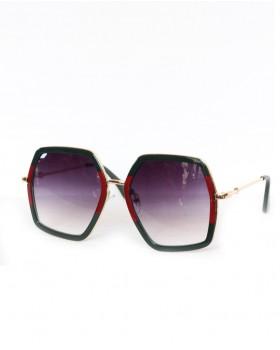 Yeşil Kırmızı Detaylı Gözlük
