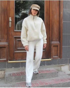 Beyaz Triko Pantolon