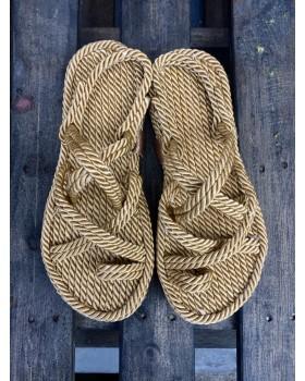 Naturel Halat Sandalet