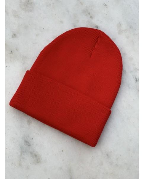 Kırmızı Katlamalı Bere