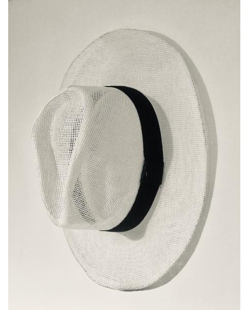 Beyaz Hasır Panama Şapka