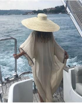 Kurdela Detaylı Oversize Şapka
