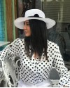 Siyah Ponponlu Panama Şapka