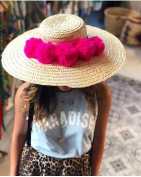 Pembe Ponponlu Large Şapka