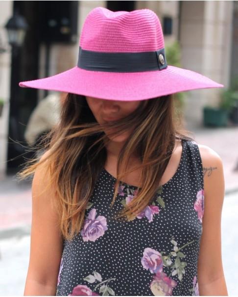 Vişne Rengi Fötr Hasır Şapka